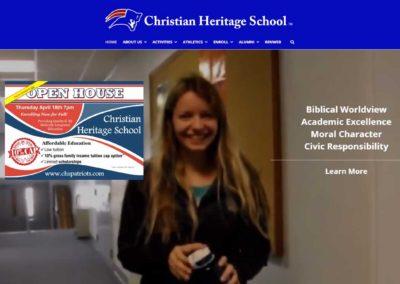 Website banner for Christian Heritage School