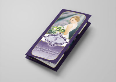 Front of Lavender Manor trifold