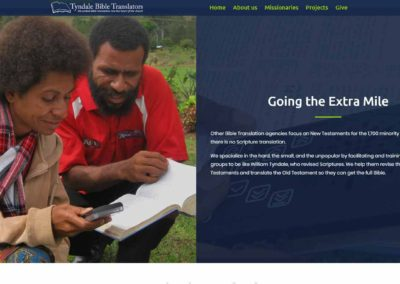 Tyndale Bible Translators website - extra mile section