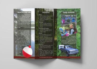 Inside of Serenity Lake brochure