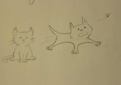 Sketch of cat for The Companion Cup
