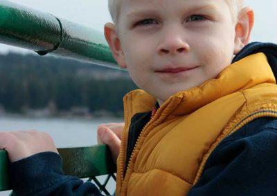 Child on ferry