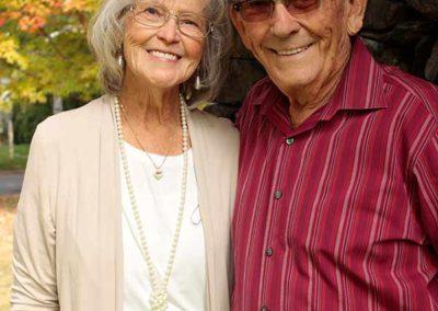 Elderly couple fall portrait