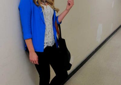 Business woman in a hallway