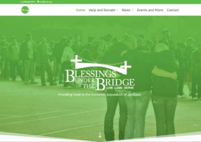 Home page banner for Blessings Under The Bridge