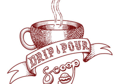 Logo for Drip, Pour, Scoop