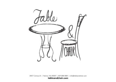 Table and Chair brand standards 1