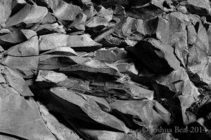 Wall inside a former lava tube