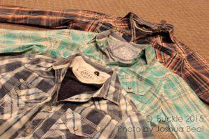 Stacked plaid shirts