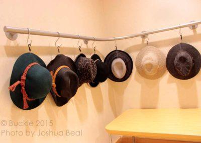 Row of fedora hats