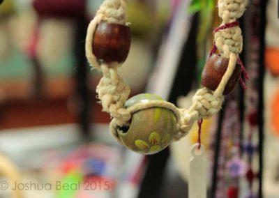 Pendant on hemp necklace