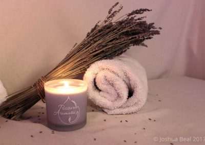Lavender and candle