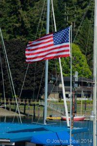 Flag on yacht