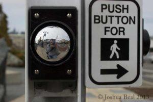 Crosswalk button self-portrait