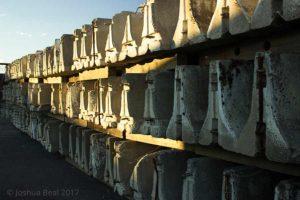 Stacks of barricades
