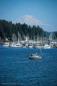 Gig Harbor in front of Mount Rainier