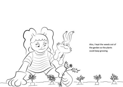 Inking outline for page 28 of Susie Sunny And Her Little Bunny
