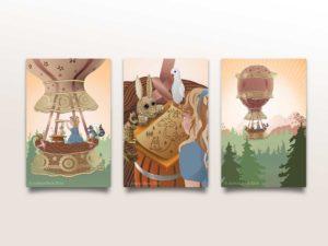 Hot Air Balloon - Canvas series
