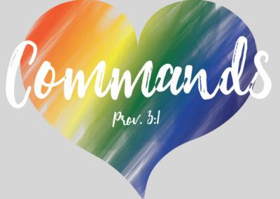 """""""Commands on Heart"""" shirt design"""