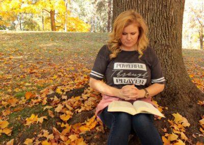 "Model in ""Powerful Through Prayer"" - shirt design"