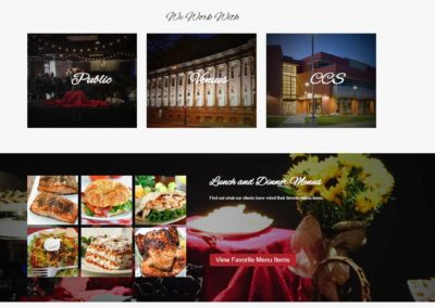 A Catered Affair food menu
