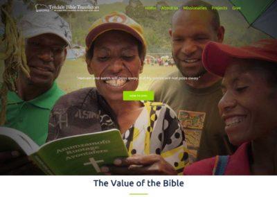 Tyndale Bible Translators website banner