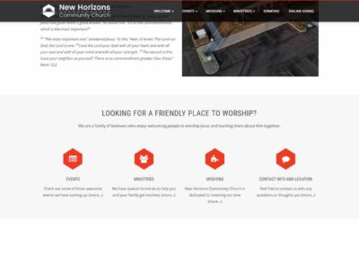 Features Section for New Horizons Community Church