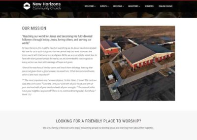 Mission Section for New Horizons Community Church