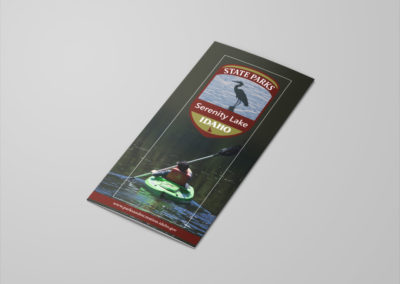 Front flap of Serenity Lake brochure