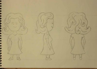 Turnaround sketch of the Potter's Wife for The Companion Cup