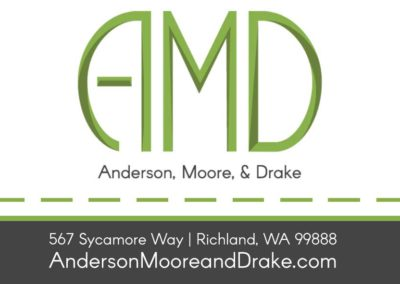 Anderson, Moore, and Drake business card - front
