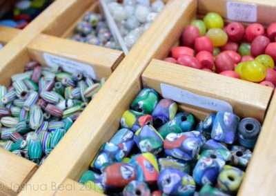 Boxes of clay beads