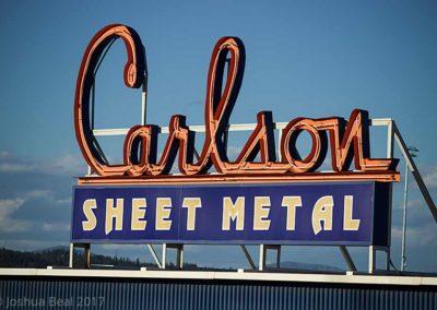 Carlson Sheet Metal sign