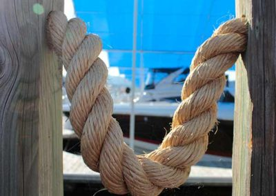 Pier guard rope