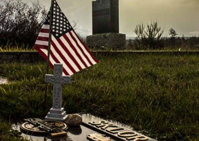 Flag, Sun, and Grave