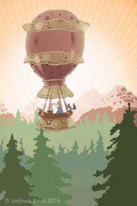 Hot Air Balloon Adventure canvas series - 3 of 3 final