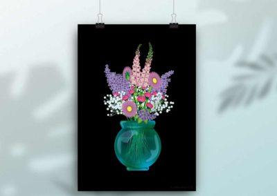 Flower Vase – Poster