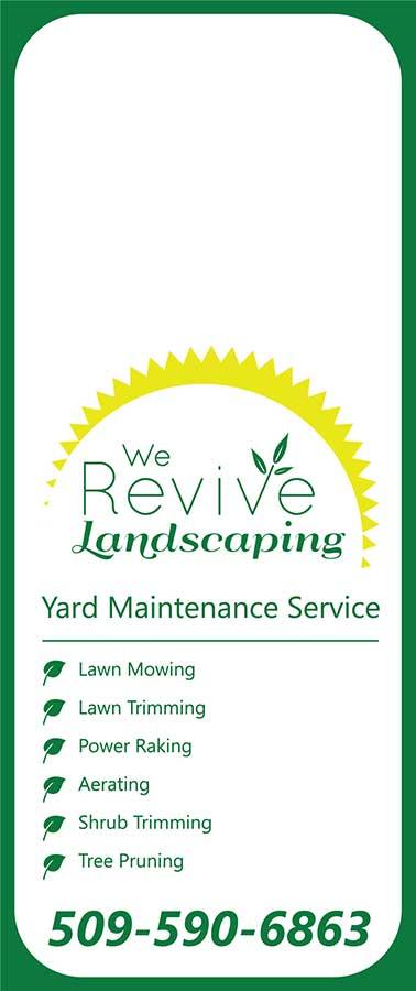 We Revive Landscaping spring door hanger