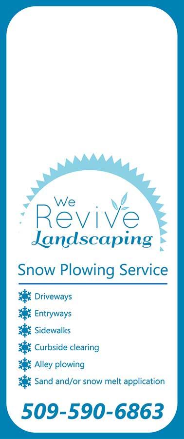 We Revive Landscaping winter door hanger